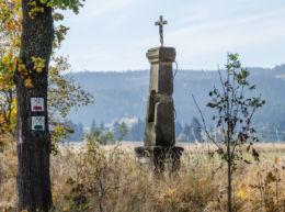 Krzyż przydrożny. Uniemyśl, gmina Lubawka, powiat kamiennogorski.
