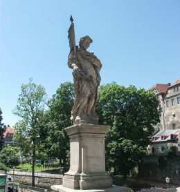Figura św. Wacława z 1715 r. na Moście św. Jana. Kłodzko, powiat kłodzki.