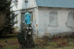 Przydrożna figura święta. Studzienno, gmina Szczytna, powiat kłodzki.