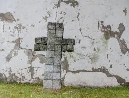 Przydrożny krzyż kamienny. Krzyżowa, gmina Świdnica, powiat świdnicki.