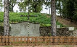 Krzyż przydrożny, drewniany. Niedźwiedzice, gmina Walim, powiat wałbrzyski.