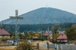 Krzyż przydrożny, metalowy. Szczawno-Zdrój, powiat wałbrzyski.