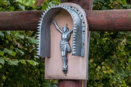 Krzyż przydrożny, drewniany. Walim, powiat wałbrzyski.
