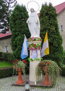 Przydrożna figura święta. Kobierzyce, powiat wrocławski.