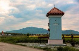 Kapliczka przydrożna wnękowa. Nasławice, gmina Sobótka, powiat wrocławski.