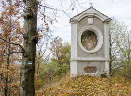 Stacja Drogi Krzyżowej przy drodze wiodącej na Górę Bardzką. Bardo, powiat ząbkowicki.