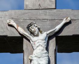 Krzyż przydrożny drewniany. Potworów, gmina Bardo, powiat ząbkowicki.