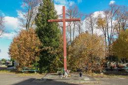 Krzyż na cmentarzu w Złotoryi Złotoryja, powiat złotoryjski.