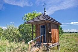 Kapliczka przydrożna drewniana. Buśno, gmina Białopole, powiat chełmski.