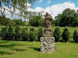 Przydrożna barokowa figura św. Jana Nepomucena z XVIII w. Nowogród Bobrzański, powiat zielonogórski.