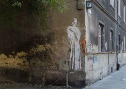 Kapliczka na ścianie budynku. Kraków, Kraków.