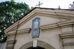 Kapliczka w sczycie budynku. Kraków, Kraków.