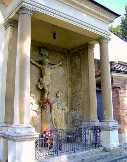Kaplica ze sceną ukrzyżowania przy kościele św. Floriana. Kraków, Kraków.