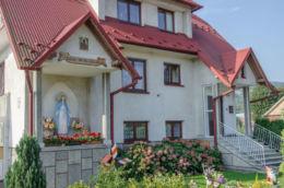 Kapliczka przydrożna domkowa. Ujanowice, powiat limanowski.