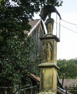 Figura św. Jana Nepomucena z 1896 r. Skomielna Czarna, gmina Tokarnia, powiat myślenicki.