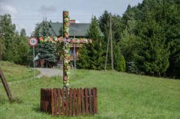 Krzyż przydrożny. Bartkowa, gmina Gródek nad Dunajcem, powiat nowosądecki.