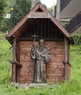 Kapliczka przydrożna. Kamianna, gmina Łabowa, powiat nowosądecki.