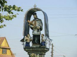 Przydrożna kapliczka św. Jana Nepomucena. Chochołów, gmina Czarny Dunajec, powiat nowotarski.