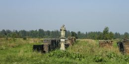 Przydrożna kapliczka z figurą św. Jana Nepomucena. Czarny Dunajec, powiat nowotarski.