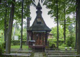 Przydrożna kapliczka na Bińkówce. Sidzina, gmina Bystra-Sidzina, powiat suski.