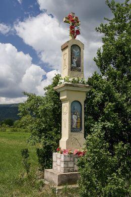 Przydrożna kapliczka murowana. Sidzina, gmina Bystra-Sidzina, powiat suski.