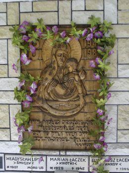 Płaskorzeźba Matki Boskiej Akowskiej Sidzina, gmina Bystra-Sidzina, powiat suski.