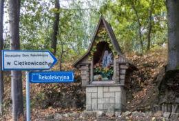 Kapliczka przydrożna. Ciężkowice, powiat tarnowski.
