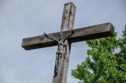 Krzyż przydrożny. Jamna, gmina Zakliczyn, powiat tarnowski.