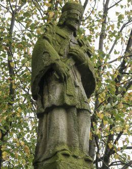 Przydrożna figura św. Jan Nepomucena z 1780 r. Gierałtowiczki, gmina Wieprz, powiat wadowicki.