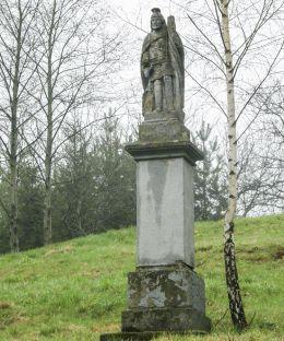 Kapliczka z figurą św. Floriana. Marcyporęba, gmina Brzeźnica, powiat wadowicki.
