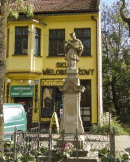 Przydrożna figura św. Jana Nepomucena z 1814 r. Stryszów, powiat wadowicki.