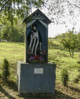 Przydrożna kapliczka św. Jana Nepomucena 1892 r. Fundatorzy Wojciech Sordyl i Józef Sikora. Zawadka, gmina Wadowice, powiat wadowicki.