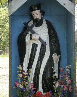 Przydrożna kapliczka św. Jana Nepomucena 1892 r. Zawadka, gmina Wadowice, powiat wadowicki.