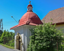 Kapliczka domkowa z 1822 r. Stryszów, powiat wadowicki.