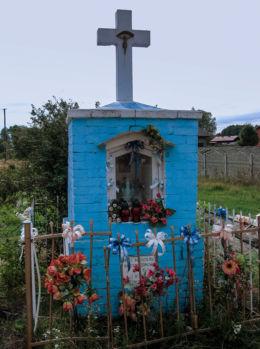 Kapliczka przydrożna murowana. Henryszew, gmina Jaktorów, powiat grodziski.