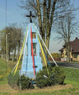 Przydrożna kapliczka z 1939 r. Ryszki, gmina Jasieniec, powiat grójecki.