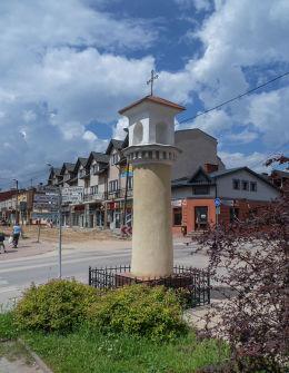 Przydrożna barokowa kapliczka z XVIII w. przy ulicy Franciszkańskiej, róg Mostowej. Warka, powiat grójecki.