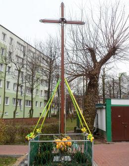 Krzyż przy ulicy Słowackiego. 52.400569, 20.93987, powiat legionowski.