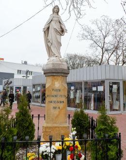 Przydrożna figura Maryi Niepokalanie Poczętej z 1904 r. Legionowo, powiat legionowski.