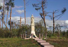 Przydrożna figura Maryi przy drodze do Chotczy. Chotcza Dolna, gmina Chotcza, powiat lipski.