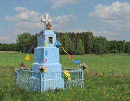 Kapliczka przydrożna na skraju wsi. Mokrosęk, gmina Jedlińsk, powiat radomski.