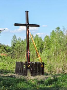 Krzyż przydrożny. Oblas, gmina Przytyk, powiat radomski.