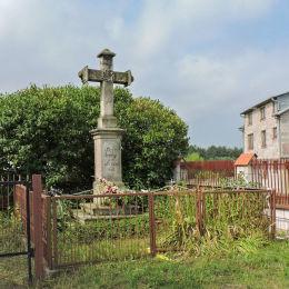 Kamienny krzyż przydrożny z1842 r. Przytyk, powiat radomski.