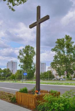 Przydrożny krzyż. Warszawa, Bielany, Warszawa.