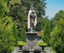 Figura Matki Boskiej. 750 lecie Szkaplerza Świętego 1251 - 2001. Baborów, powiat głubczycki.