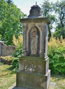 Przydrożny krzyż z 1891 r. Dziećmarów, gmina Baborów, powiat głubczycki.