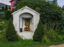 Przydrożna kapliczka murowana. Nowy Las, gmina Głuchołazy, powiat nyski.