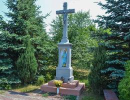 Krzyż przydrożny z1913 r. Strzelce Opolskie, Mokre Łany, powiat strzelecki.