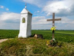 Przydrożna kapliczka Maryjna. Ostrów, gmina Radymno, powiat jarosławski.