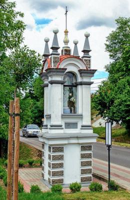 Przydrożna kapliczka. Grodzisko Dolne, powiat leżajski.